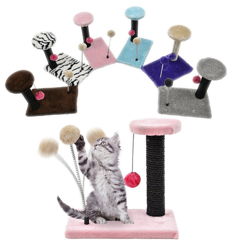 Cat Scratching Post with Two Ball Toys Purrrfect for Pets