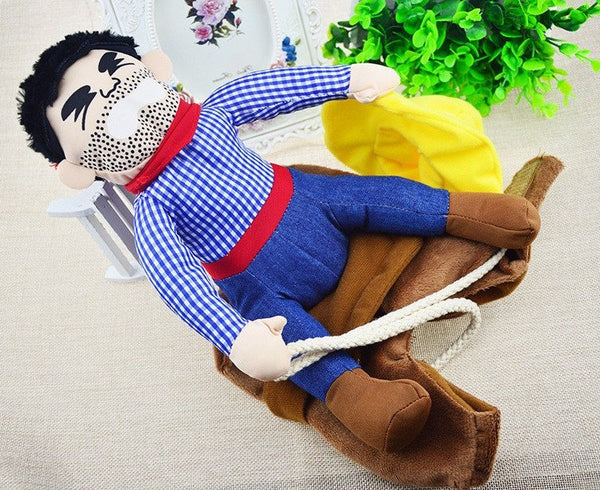 Cowboy Riding Costume - Purrrfect For Pets