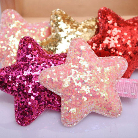 1 PC Lovely Bling Star Princess Pet Hair Clip - Purrrfect For Pets