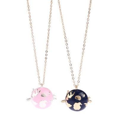 Fairy Tale Cute Cat Planet Star Pendant Necklace for Girls - Purrrfect For Pets