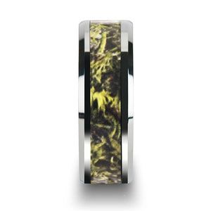 Green Marsh Hunter Camouflage Tungsten Carbide Ring