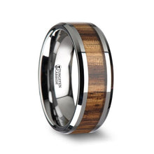 Load image into Gallery viewer, Exotic Zebra Wood Tungsten Carbide Band