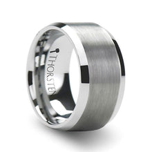 Load image into Gallery viewer, Brushed Center Polished Edge Tungsten Band