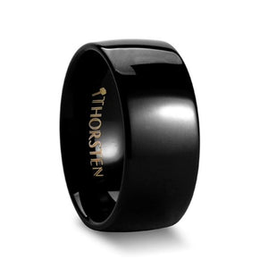 Rounded Black Tungsten Ring