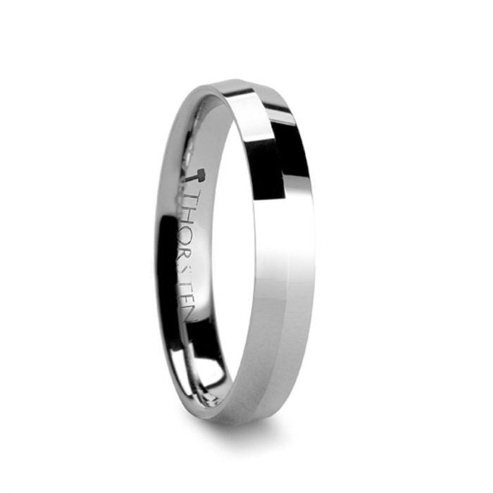 Knife Edge Tungsten Engagement Ring for Ladies