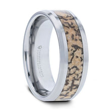 Load image into Gallery viewer, Authentic Brown Dinosaur Bone Inlay Tungsten Wedding Ring
