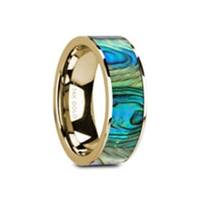 Load image into Gallery viewer, Mother of Pearl Inlay 14K Yellow Gold Ring