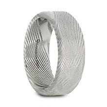 Load image into Gallery viewer, Damascus Steel Brushed Finish Natural Pattern Wedding Band