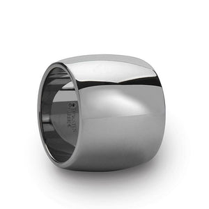 Ultra Wide Domed Tungsten Ring