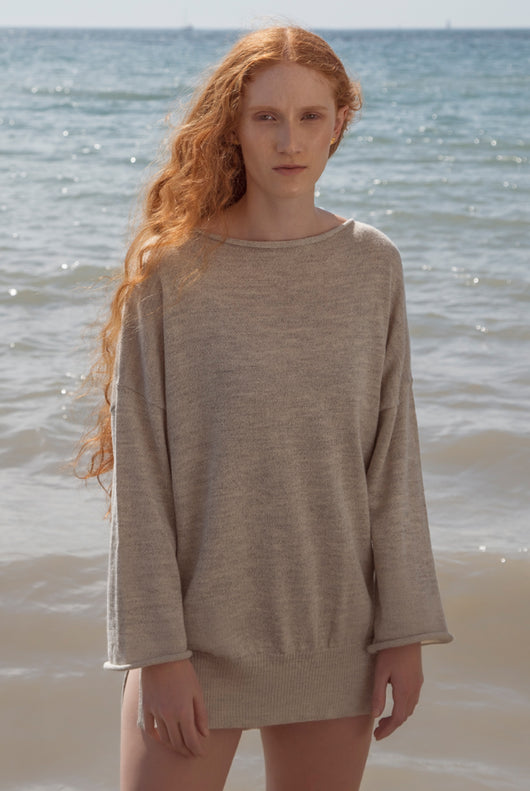 LOUNGE SWEATER warm light grey