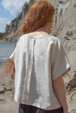 OVERSIZED LINEN BLOUSE