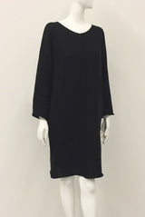 PANELLED DRESS natural / black