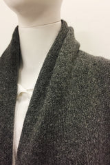 SHAWL COLLAR OVERCOAT black / charcoal
