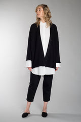WIDE CARDIGAN black