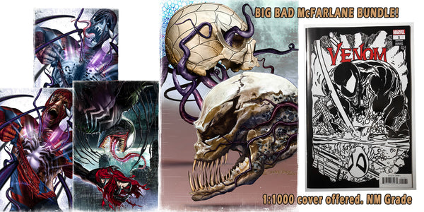 Bundle with 1:1000 Todd McFarlane Venom #1 retailer incentive cover - In stock now.