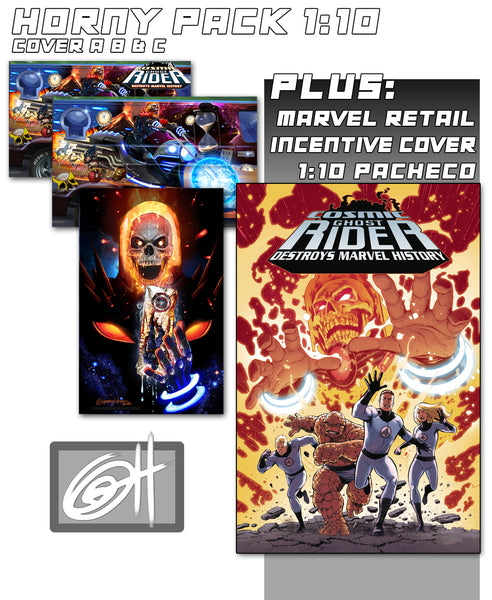 Cosmic Ghost Rider Destroys Marvel History # 1 A Greg Horn Art Store/Convention Exclusive Variants!