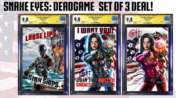 Snake-Eyes: Deadgame  Greg Horn Art CGC Signature Series