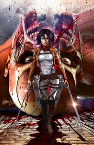 Attack on Titan - Mikasa - high quality 11 x 17 digital print