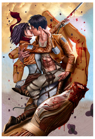 Attack on Titan - Kiss of the Titans - Limited Lithograph