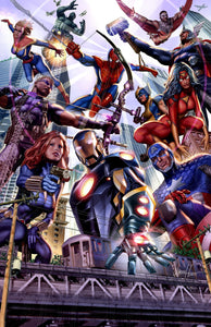Avengers Big City - high quality 11 x 17 digital print