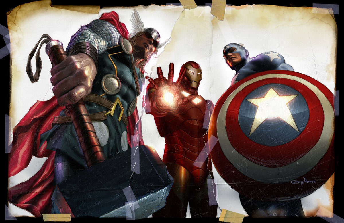 Avengers Trinity - high quality 11 x 17 digital print