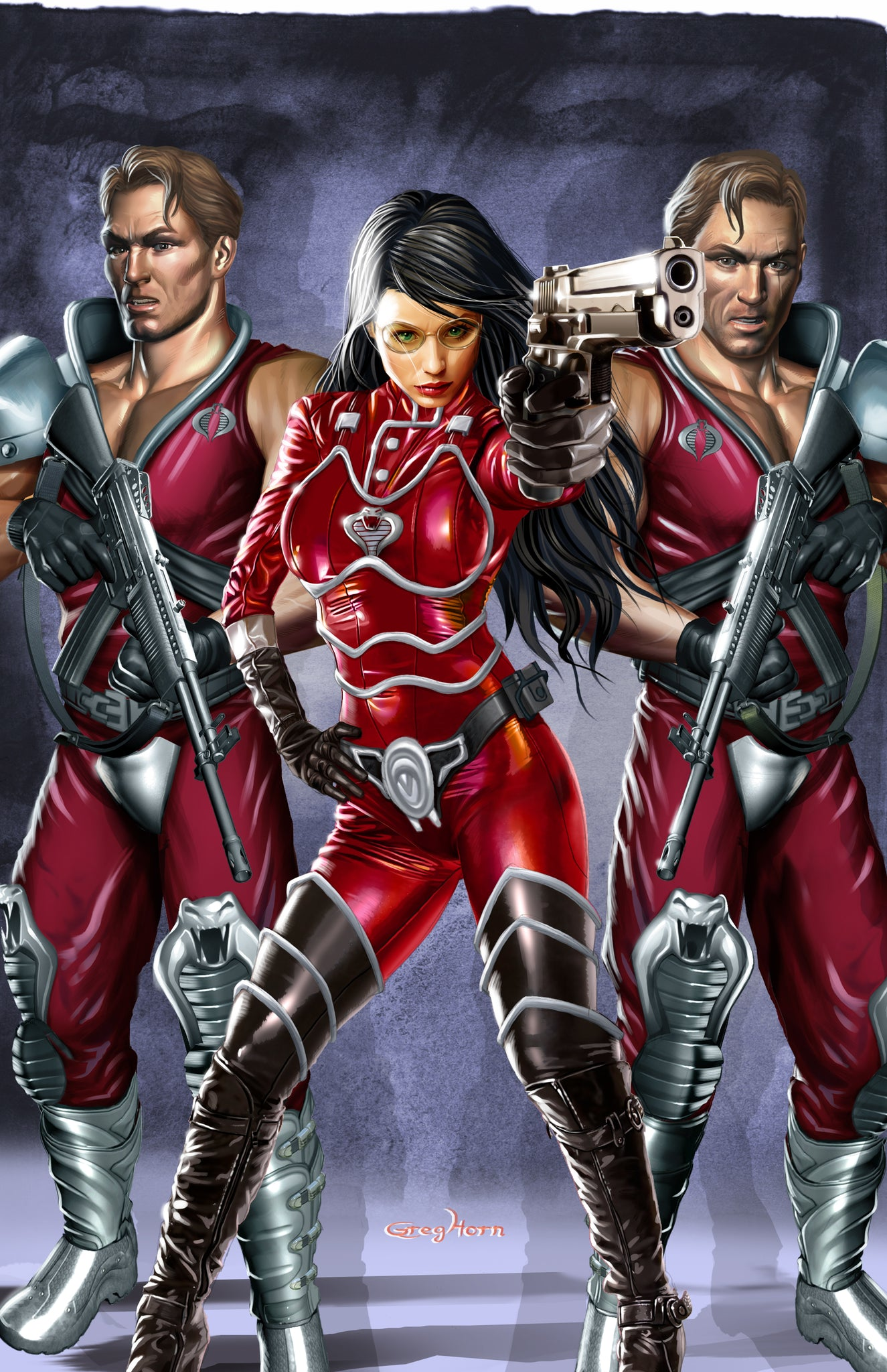 G.I. JOE - Baroness with Xamot and Tomax - high quality 11 x 17 digital print