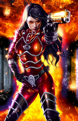 G.I. JOE - Baroness on Fire - high quality 11 x 17 digital print