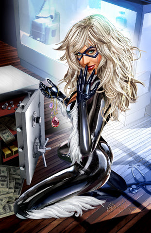 Black Cat - Safe Cracker - high quality 11 x 17 digital print