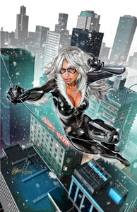 Black Cat - Swinger - high quality 11 x 17 digital print