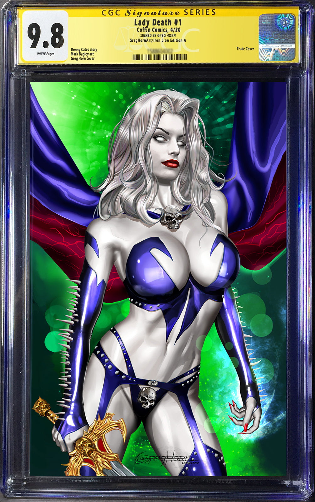 Lady Death Heartbreaker # 1 (2020) Raw books and slabs!