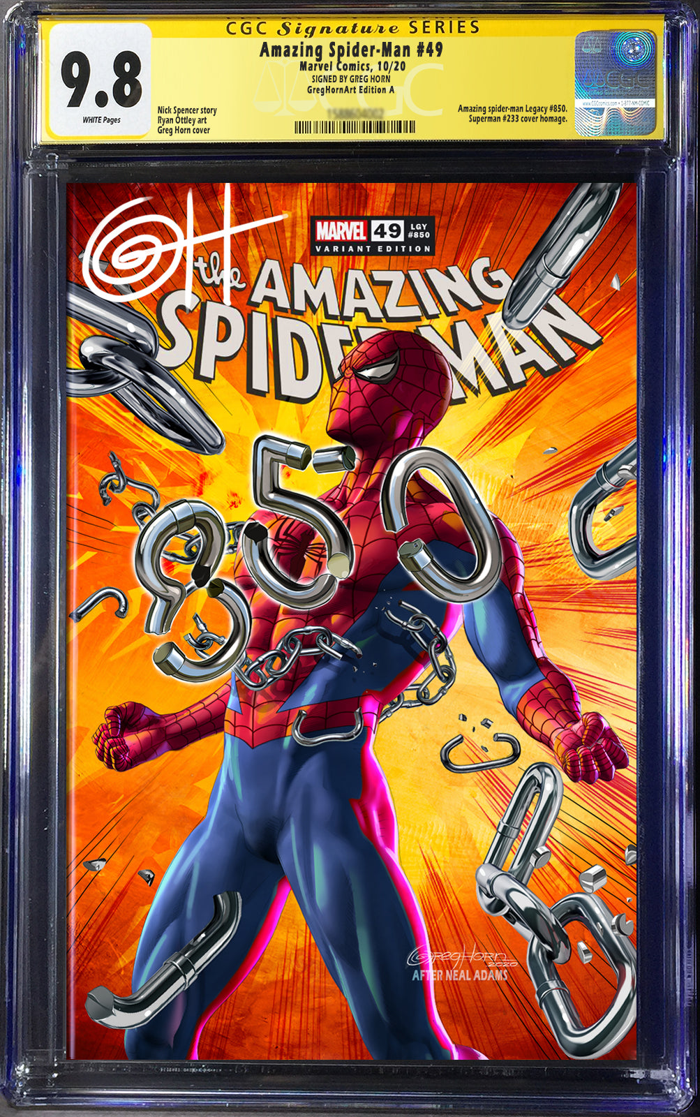 Amazing Spider-Man # 850 - Greg Horn Art CGC Signature Series Options