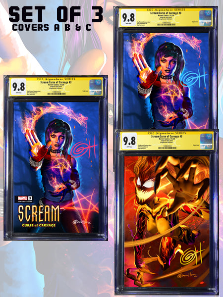 SCREAM CURSE OF CARNAGE #3 A Greg Horn Art Exclusive CGC Signature Series Options