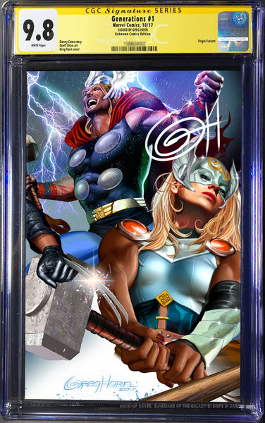 Generations # 1 by Greg Horn Unknown Exclusive Variant GUARANTEED CGC 9.8 -individuals or BUNDLE DEAL