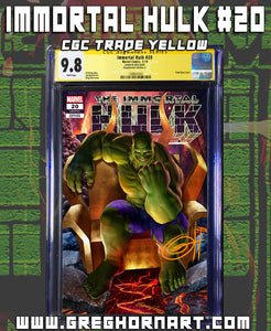 Immortal Hulk # 20 - 9.8 Graded Signature Series ComicXposure Greg Horn Art Exclusive Variant