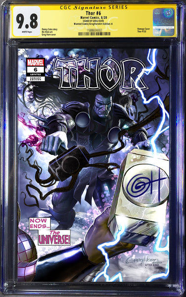 Thor # 6 - A Wanted Comix/Greg Horn Art Variant Exclusive - CGC Signature Series Options