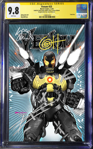 CGC Signing EXCLUSIVES - Venom # 25 CGC Signature Series Variants - Signed by Cates, Stegman and Horn!
