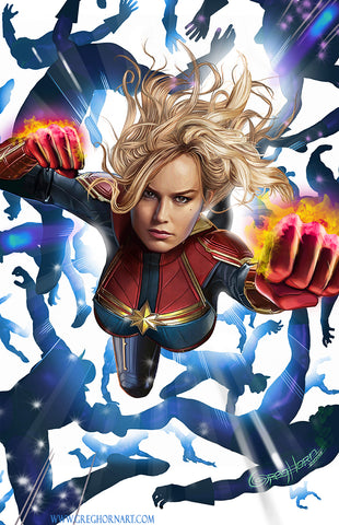 Captain Marvel - high quality 11 x 17 digital print