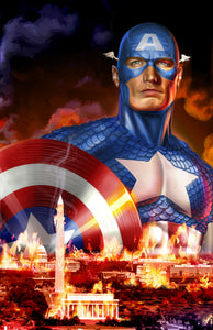 Captain America - DC on fire! - high quality 11 x 17 digital print