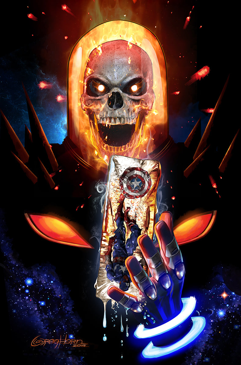 Cosmic ghost rider destroys marvel history melting ice cap 11 x 17 high quality