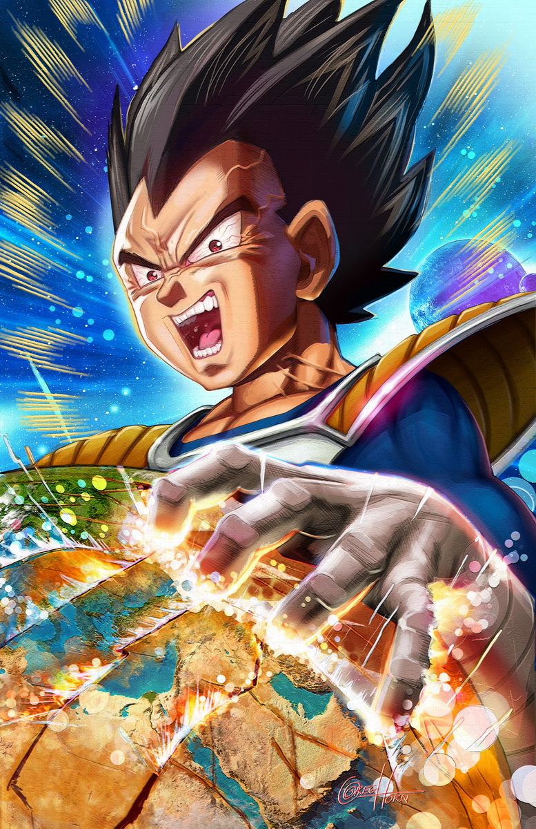 Dragon Ball Z - Vegeta - high quality 11 x 17 digital print