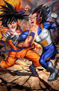 Dragon Ball Z Goku vs Vegeta - high quality 11 x 17 digital print