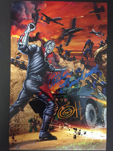 G.I. Joe Enter Destro 11x17 print Signed by Greg Horn AND Arthur Burghardt.