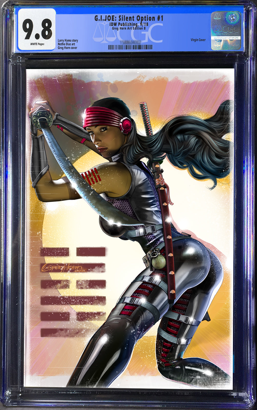 G.I. Joe Silent Option #1 Cover B CGC 9.8