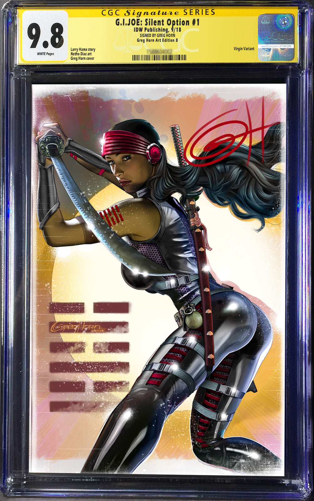 G.I. Joe Silent Option # 1 Cover B CGC 9.8 Signature Series