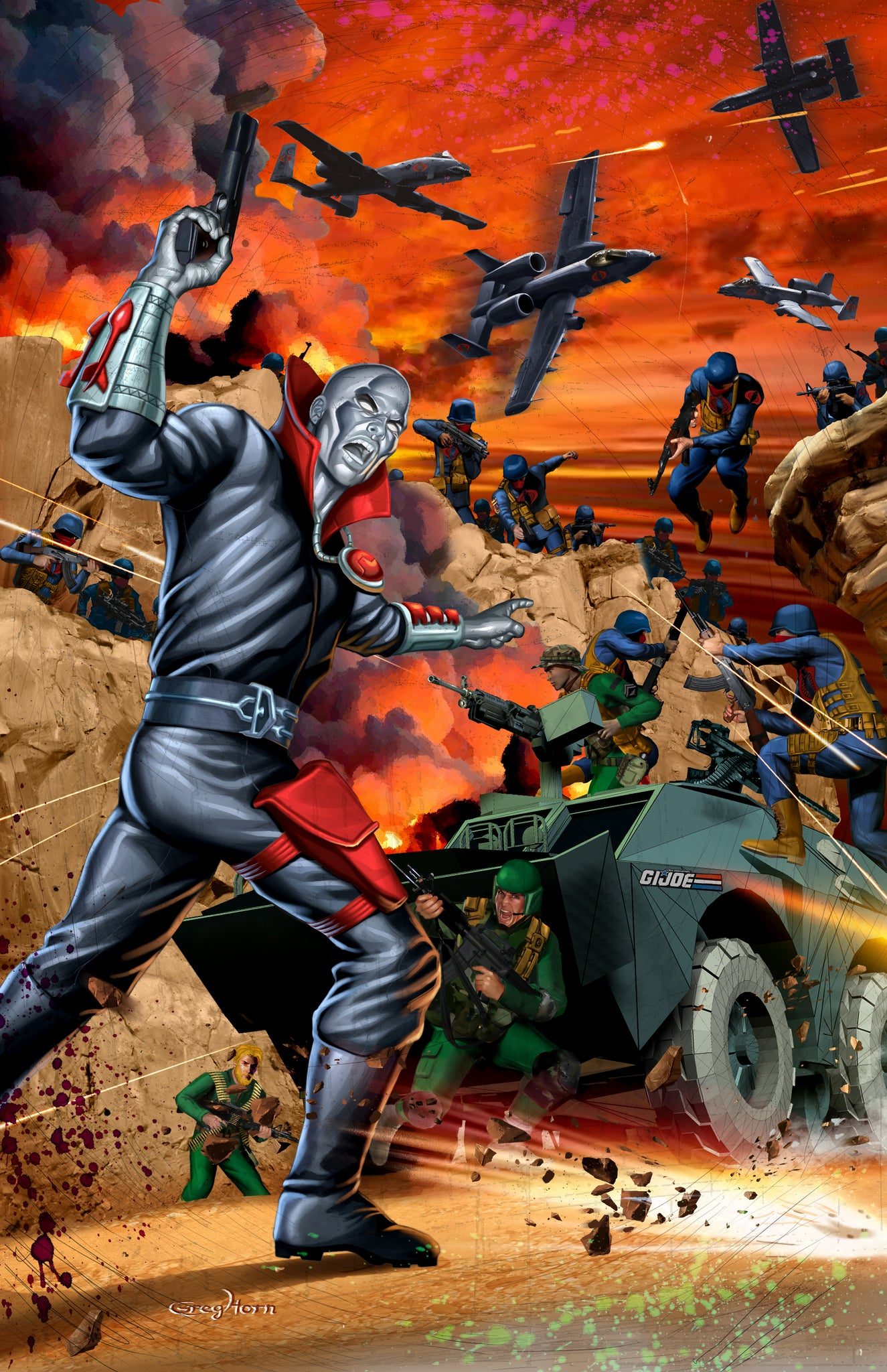 G.I. JOE - ENTER DESTRO - high quality 11 x 17 digital print