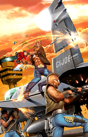 G.I. JOE - Dreadnoks tearin' it UP! - high quality 11 x 17 digital print