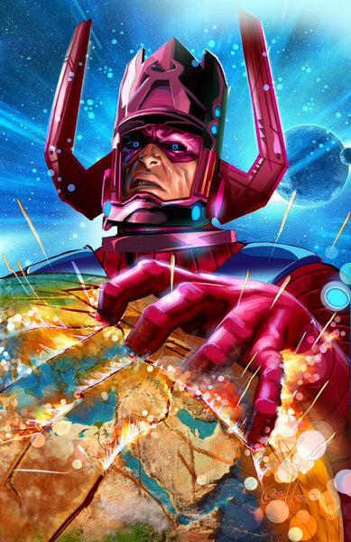 Galactus Destroys the Earth! - high quality 11 x 17 digital print
