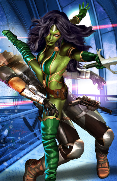 Gamora - War of Heroes  - high quality 11 x 17 digital print - Guardians of the Galaxy