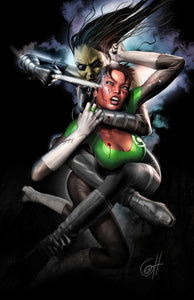 Blackest Night: Jade VS Soranik - high quality 11 x 17 digital print