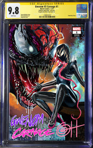 King in Black: Gwenom vs Carnage # 1 - A Greg Horn Art/Bird City Comics Exclusive CGC Signature Series Options